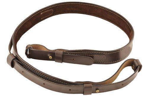 ремень оружейный кожаный на подкладе узкий с петлей м41 a-line